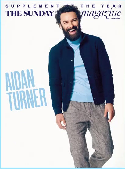 UK Sunday Times Magazine June 2018: Aidan Turner Poldark Cover Interview