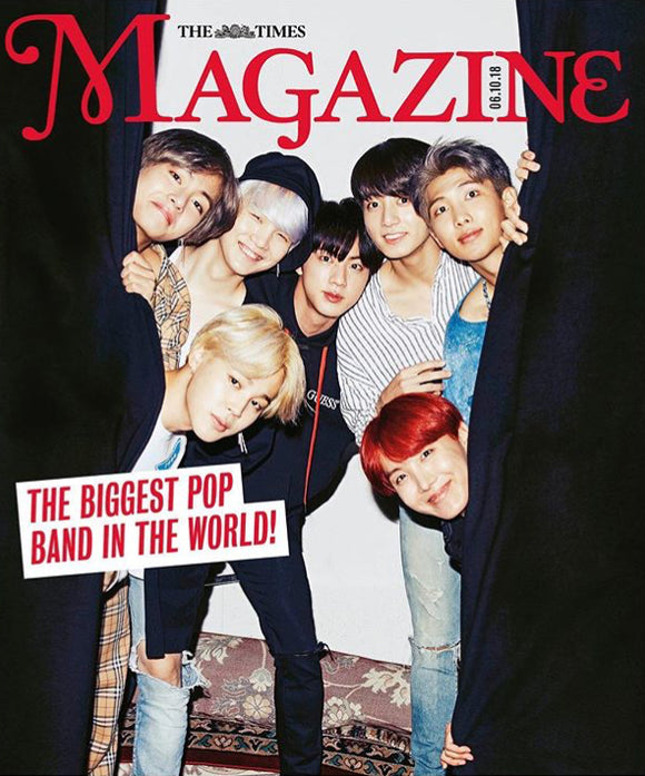 New BTS UK Times Magazine K-POP October 2018 Bangtan Boys Kpop