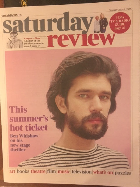 UK Times Review August 12 2017 Ben Whishaw Cover Interview