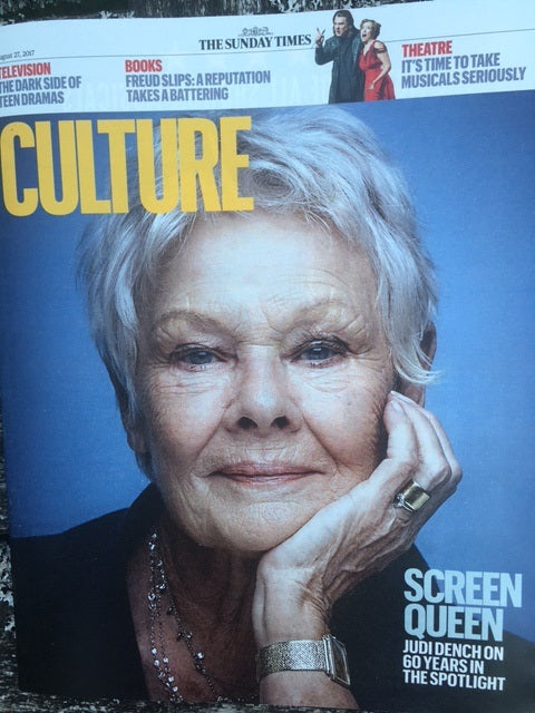 UK Culture Magazine August 2017 Judi Dench Carla Bruni Jenna Coleman Ben Whishaw