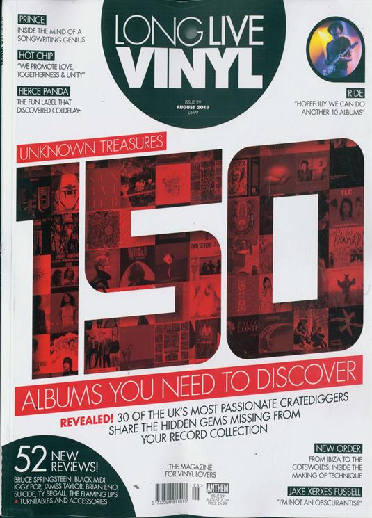Long Live Vinyl Magazine August 2019: PRINCE - Inside the Mind of A Songwriting Genius