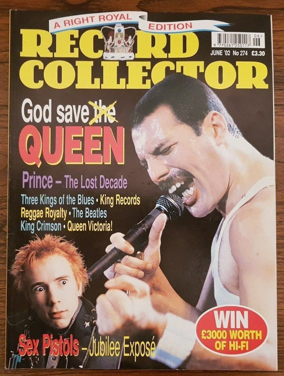 Record Collector Magazine June 2002: FREDDIE MERCURY - Queen - Prince