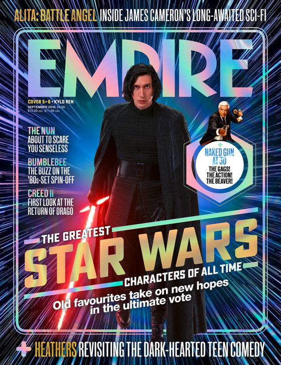 Empire Magazine September 2018: THE GREATEST STAR WARS CHARACTERS #5 Kylo Ren (Adam Driver)