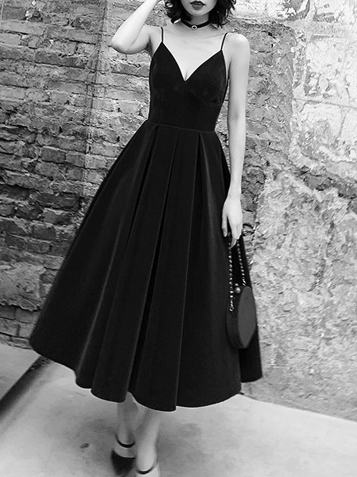 Strapless Tuxedo Dress
