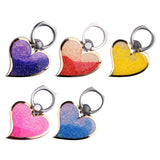 Glitter Phone Ring 360 Degree Finger Love Quicksand Liquid Phone Stand Heart Phone Ring Holder For iPhone Samsung etc. - Tokyo Fashion