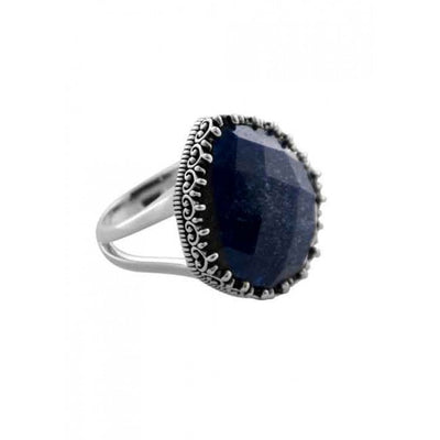 Barse Imperial Crown Ring- Navy Quartz