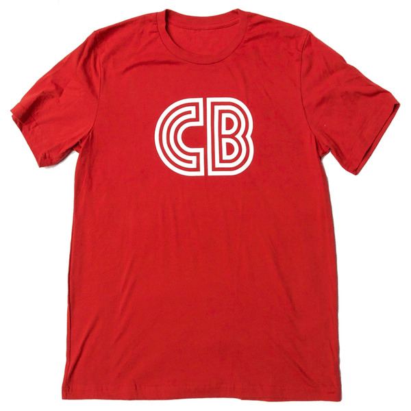 CB Logo T-Shirt  |  Men's Red