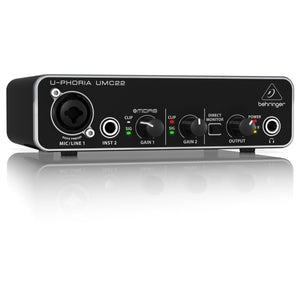 Behringer U-Phoria UMC22 USB Audio Interface - soundstore-finland