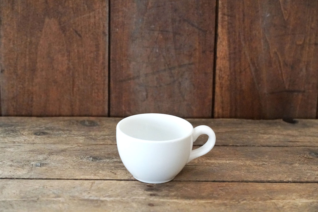 Finer White Demitasse Cup - Fishs Eddy