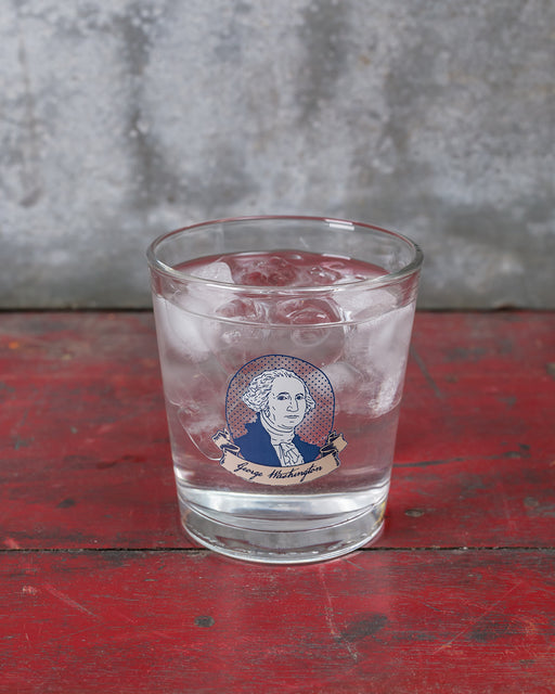 George Washington Double Old Fashioned Glass