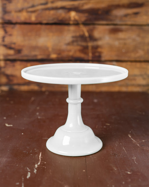 "Milk Glass Cake Stand (10"")"