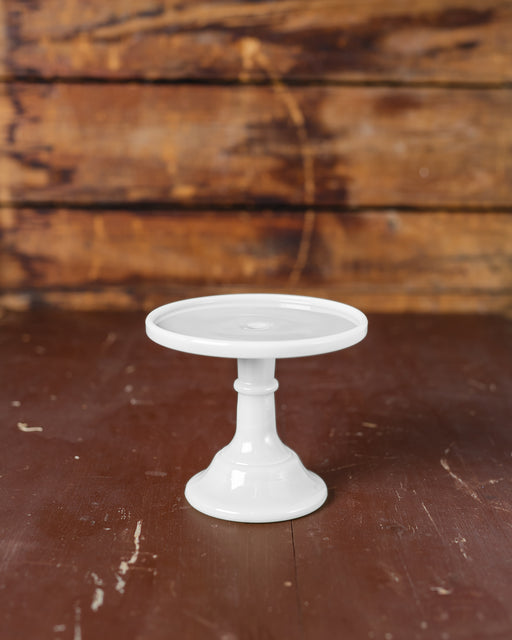 "Milk Glass Cake Stand (6"")"