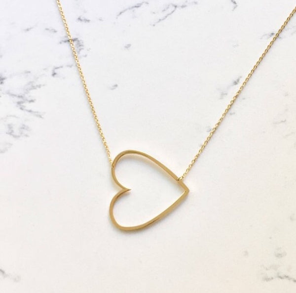 heart necklace - gigglosophy