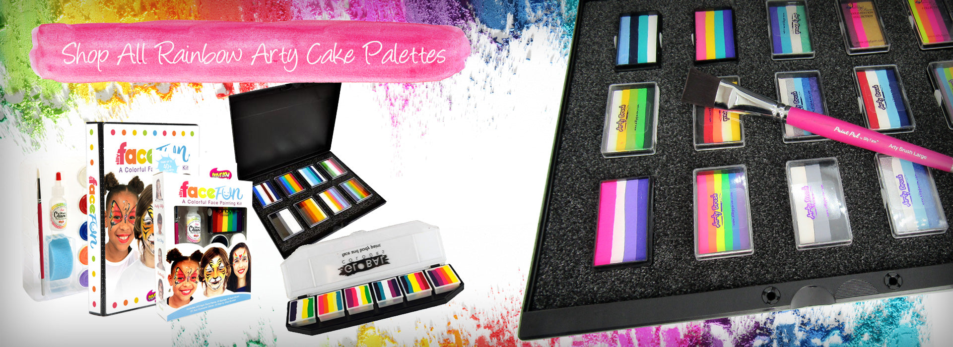 Shop All Rainbow & Arty Cake Palettes