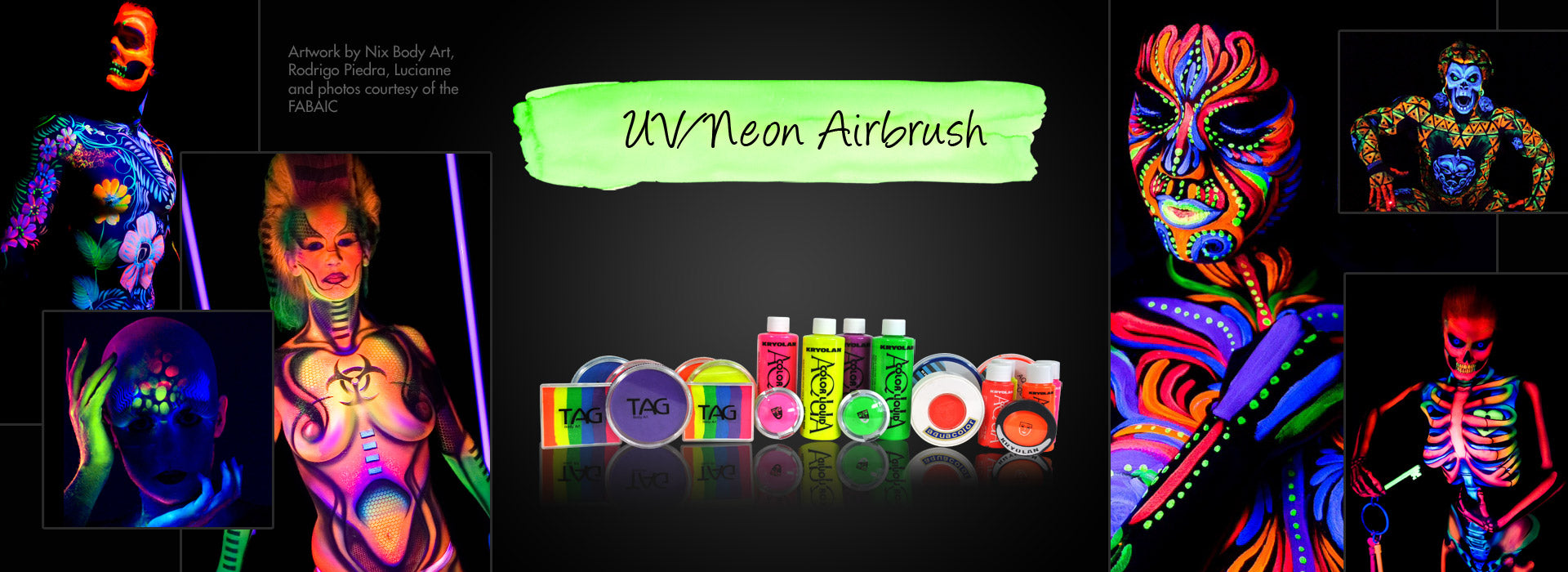 UV/ Neon Airbrush Makeup