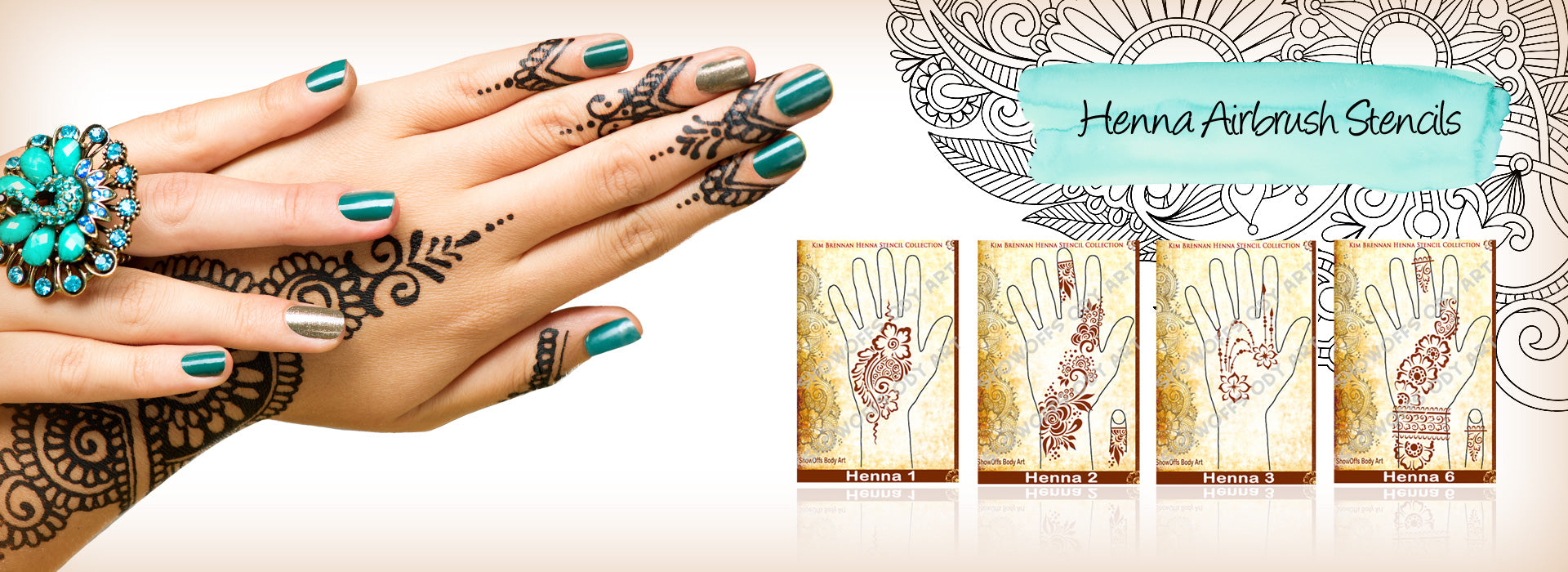 Kim Brennan Henna Airbrush Stencil Collection