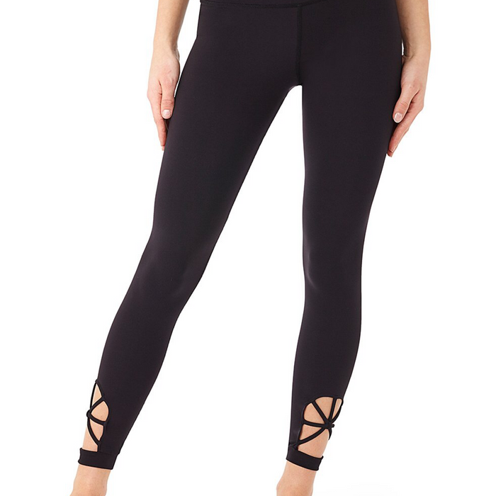 Yoga tights Spider -  i BioPolyamid - Black