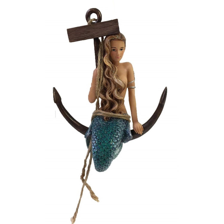 December Diamonds Mermaid Ornament Great Catch 55-55111 7 Inches