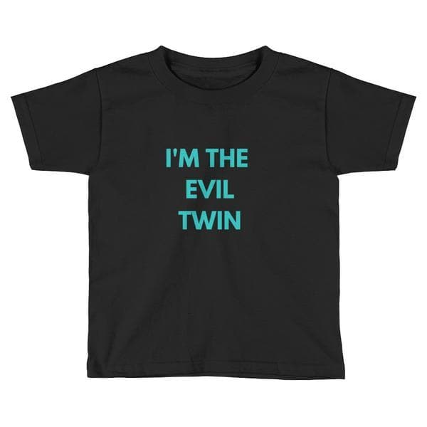 I'm The Evil Twin Toddler T-shirt (Navy)