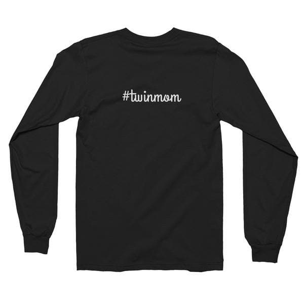 #Twinmom Long Sleeve T-shirt In Black