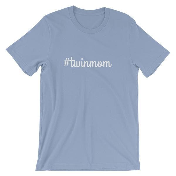 #Twinmom T-shirt in Light Blue