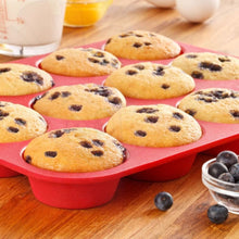 12 Or 24 Cup Silicone Cupcake Baking Pan