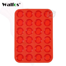 12 Or 24 Cup Silicone Cupcake Baking Pan Walfos 24 Cup Red