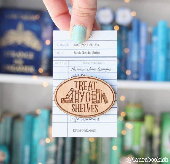 Book Nerd Pin Brooch Bookish Gift Literary Funny