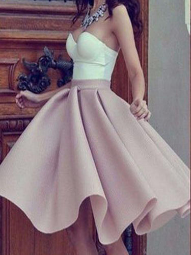 Fashion Homecoming Dress Sexy Sweetheart Knee-length Short Prom Dress Party Dress JK313