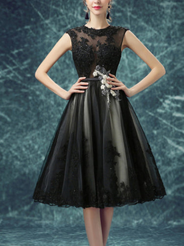 Black Homecoming Dress Sexy Sweetheart Knee-length Short Prom Dress Party Dress JK336