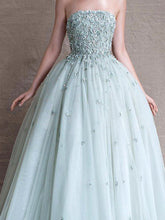 Beautiful Prom Dresses Strapless Floor-length Prom Dress/Evening Dress JKL089