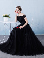 Beautiful Prom Dresses A-line Off-the-shoulder Long Lace Prom Dress/Evening Dress JKL122