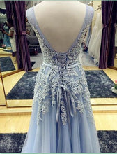 Beautiful Prom Dresses V-neck Lace-up Floor-length Chic Prom Dress/Evening Dress JKL271