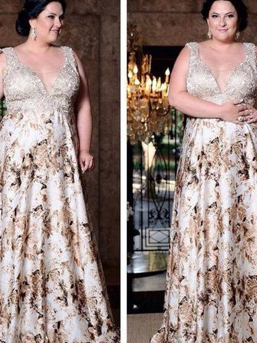 Beautiful Plus Size Prom Dresses Straps Floor-length Long Prom Dress JKP021