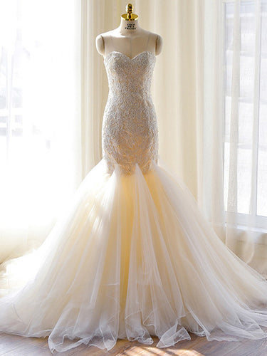 Chic Wedding Dresses Sweetheart Trumpet/Mermaid Sexy Bridal Gown JKS239