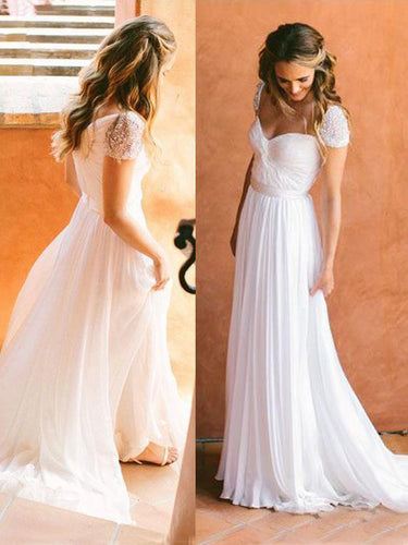 2017 Wedding Dresses Cheap Sweetheart Beading Short Train Chiffon JKW023