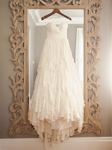 Vintage Wedding Dresses Sexy Sweetheart Short Train Bridal Gown JKW042