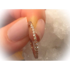 Sterling Silver Diamond Eternity Ring