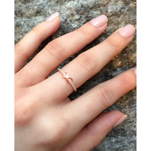 Rose Gold Infinity Promise Ring