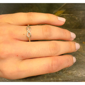 Sterling Silver Infinity Ring,with scrolled band