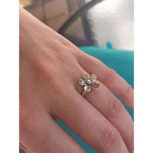 Sterling Silver Daisy Plumeria Ring