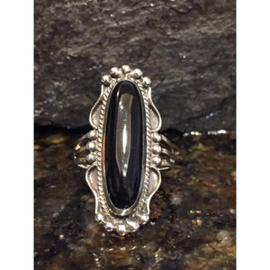 Black Onyx Sterling Silver Statement Ring