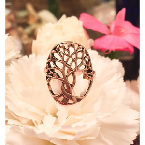 Rose Gold Tree of Life Ring-Tree of Life Statement Ring