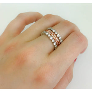 Rose gold eternity ring,diamond eternity band,Stack rings,wedding bands