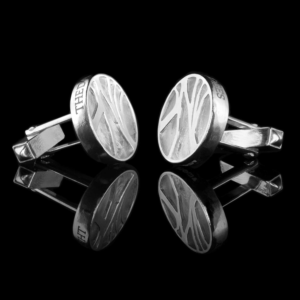 Dark Hedges Sterling Silver Hallmarked Cufflinks. Can be personalised for bespoke jewellery commissions or Corporate Gifts Northern Ireland Dark Hedges Silver Cufflinks