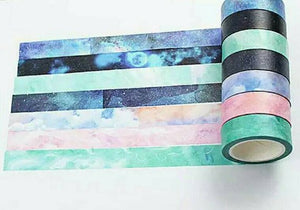 7 rolls Galaxy Washi Tape Set Planner Tape Space Washi Tapes Sky Deco Tapes