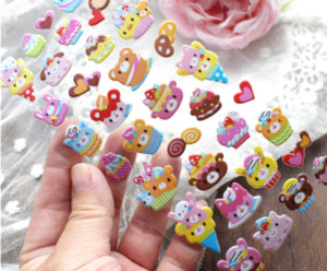 Sweet Desserts Puffy Stickers Deco Stickers