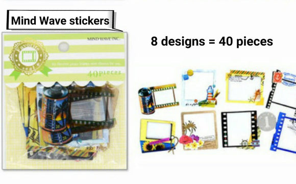 40pcs Mind Wave Film Stickers Deco Stickers