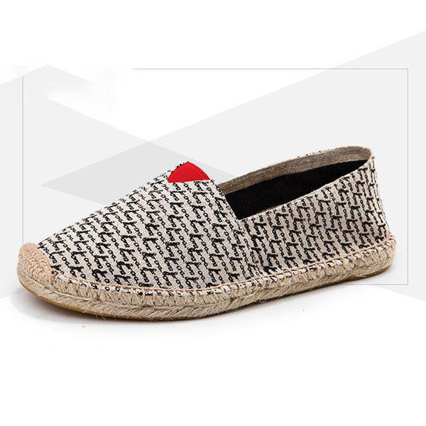 Women Canvas Loafers Casual Slip On Plus Size Flat Shoes
