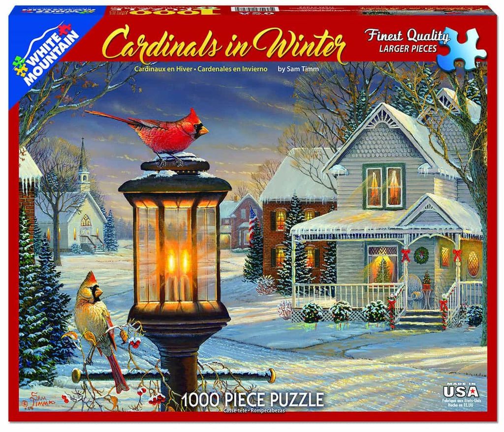 Cardinals in Winter - 1000 Pieces - DISC